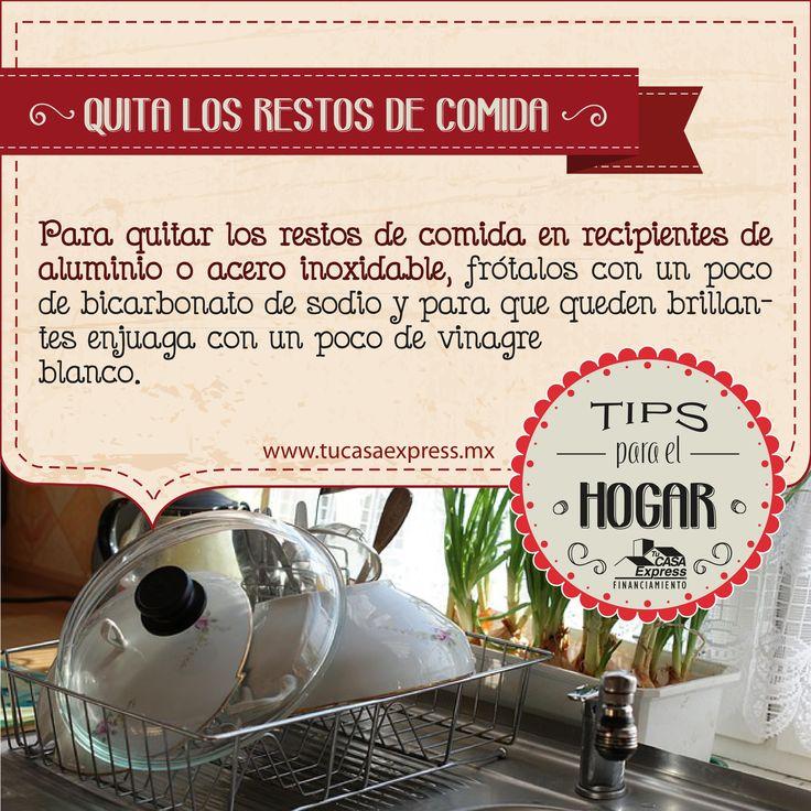 Para quitar los restos de comida en recipientes de aluminio, Tu Casa Express te deja estos útiles consejos.