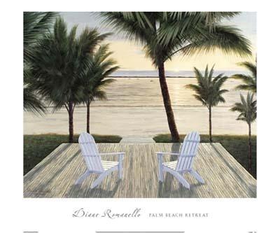 Palm Beach Retreat Art Print by Diane Romanello