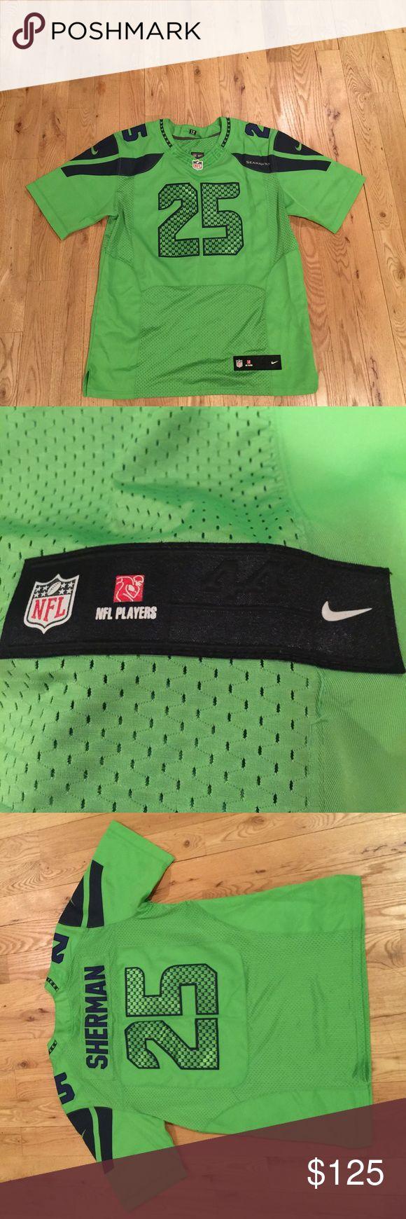 "SEATTLE SEAHAWKS ""Richard Sherman"" Jersey LIMITED EDITION!! SEATTLE SEAHWAKS NFL JERSEY ""Richard Sherman"" NEON GREEN COLOR NEVER WORN!!! Nike Other"