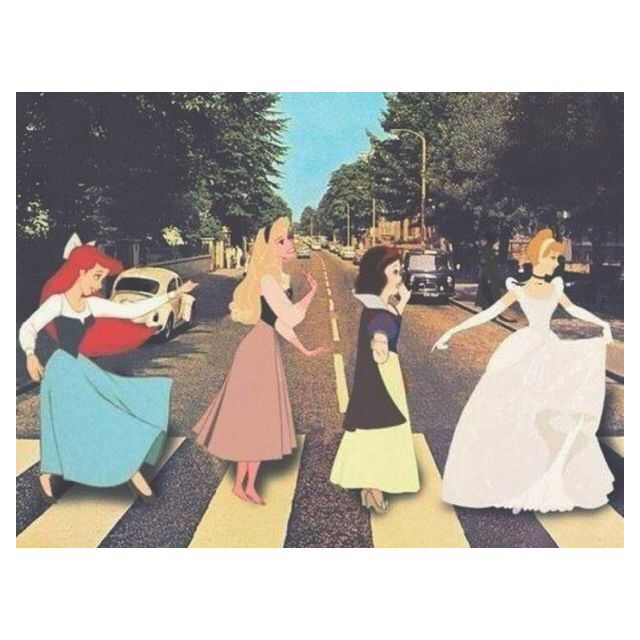 Abbey Road Disney princess style