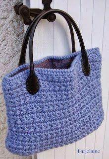 Louca por artes - Bolsas: BOLSAS - Lovely star stitch crochet bag, picture only.