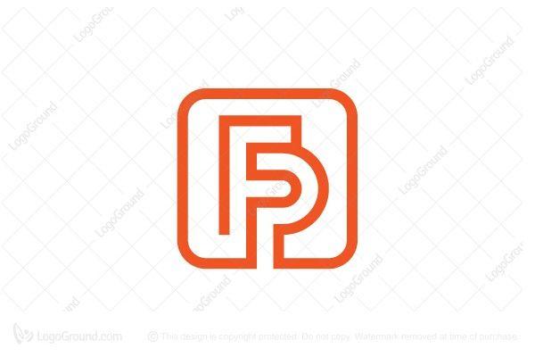 Exclusive Logo 121031 Letter Fp Monogram Logo Cartao De Visita