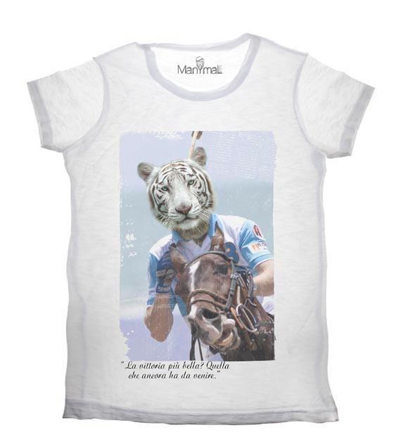 T-shirt Tigre bianca Available on www.manymaltshirt.com