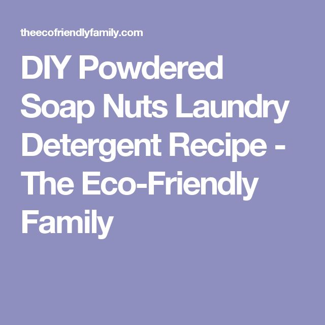 DIY Powdered Soap Nuts Laundry Detergent Recipe - The Eco-Friendly Family