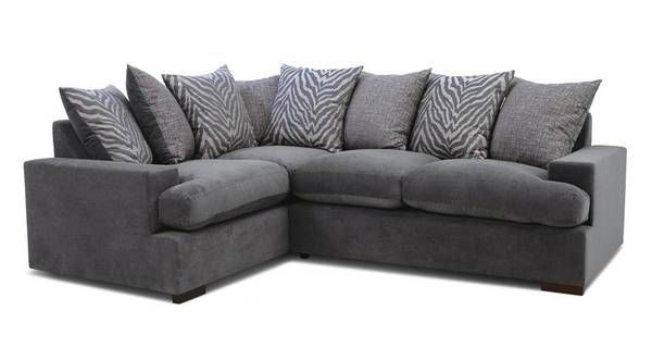 Savanna Pillow Back Right Hand Facing 2 Seater Corner Sofa In 2020 2 Seater Corner Sofa Corner Sofa Sofa Bed Sale