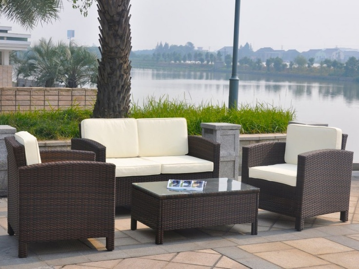 13Tlg. Lounge Möbel Set - Gartenmöbel Rattan Set Braun-Mix Lounge