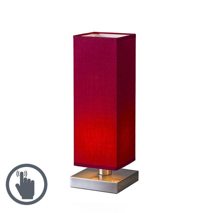 Tischleuchte Tower Touch Stahl mit Rot Jetzt bestellen unter: https://moebel.ladendirekt.de/lampen/tischleuchten/beistelltischlampen/?uid=9280bb59-4ef0-55c2-9aa8-3dd092eca29b&utm_source=pinterest&utm_medium=pin&utm_campaign=boards #lampen #tischleuchten #modern #design #beistelltischlampen Bild Quelle: www.lampenundleuchten.de