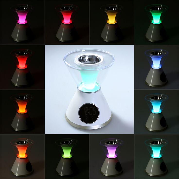 Hourglass Shaped Aroma Heater LCD Screen Digital Clock Night Light