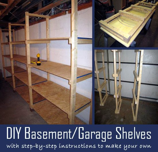 Make your own basement or garage storage shelves with easy step-by-step instructions.