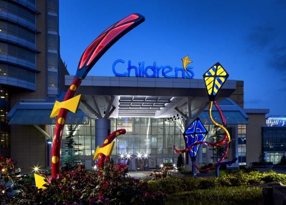 "The Children's Hospital at OU Medical Center features Matthew Placzek's ""Spirit"" sculpture on its campus."