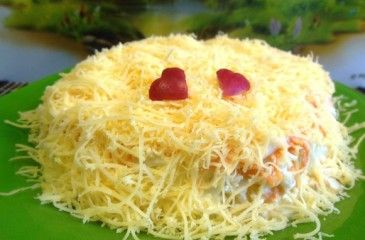 Салат Нежность - рецепт с фото. Как приготовить нежный салат с курицей или крабовыми палочками