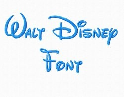 Walt Disney Machine Embroidery Font - Rivermill Embroidery