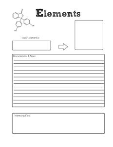 Elements Notebooking Page