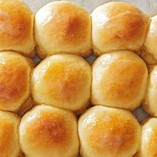 Buttery rolls make every person happy at your table! More healthy bread recipes here: http://www.bhg.com/recipes/healthy/healthy-bread-recipes/?socsrc=bhgpin121713overnightrefrigeratorrolls&page=1