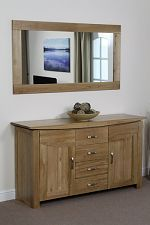 5ft tall mirror with a stylish hand crafted solid oak frame