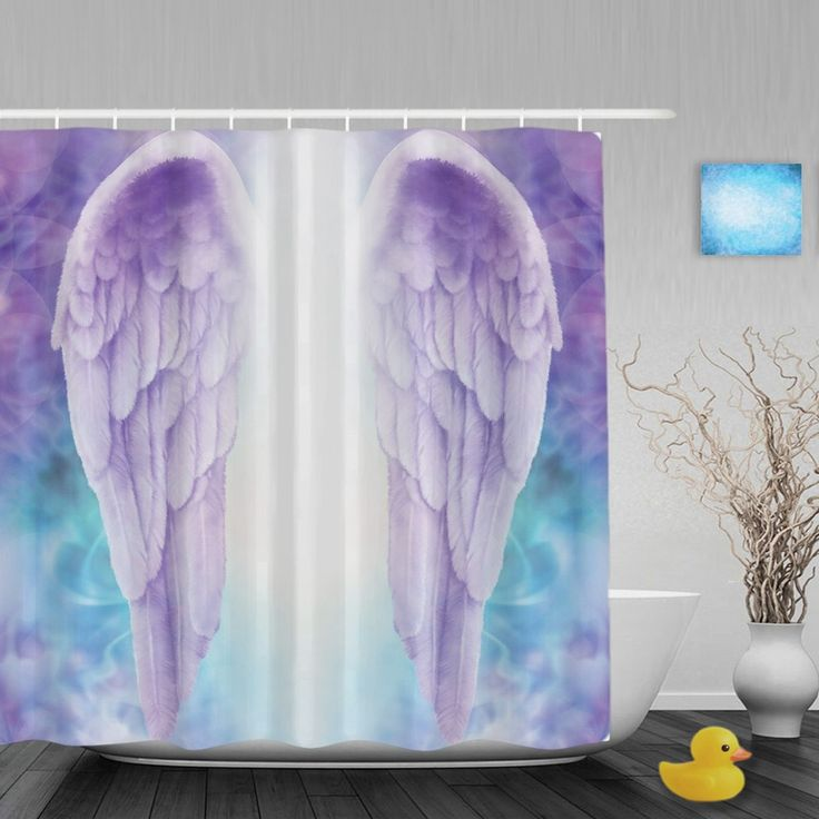 Personalized Feather Wing Shower Cutains Delicate Home Decor Bathroom Shower Curtains Polyester Waterproof Fabric With Hooks #Affiliate