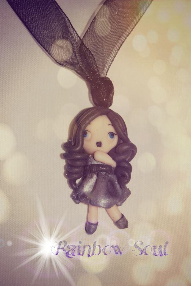 Collanina a nastro con bambolina, Violette :)