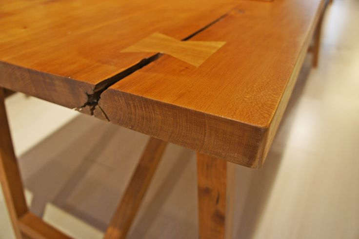 Cherry wood, butterfly joint