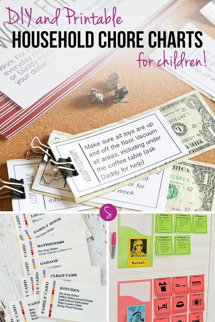 Teaching your kids to help out around the house is so much easier with these household chore charts!