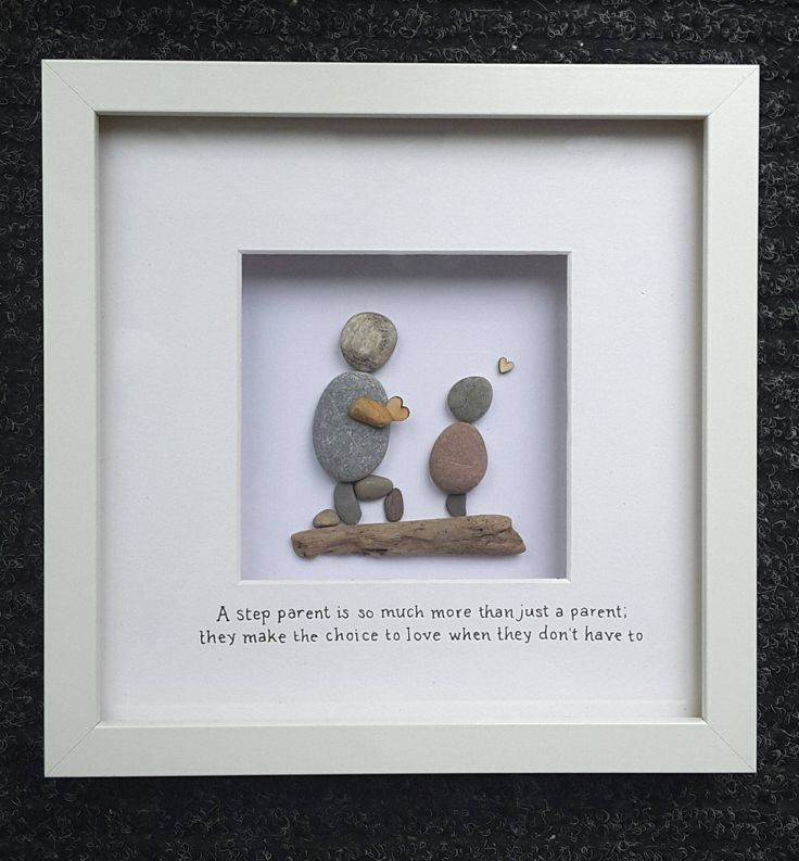 fathers day gift  step dad gift  step father  pebble art