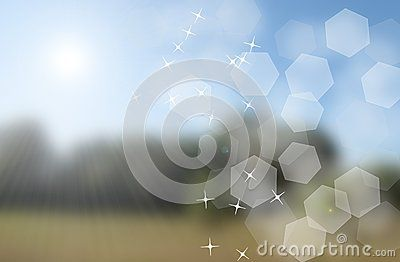 Summer bokeh background with flare