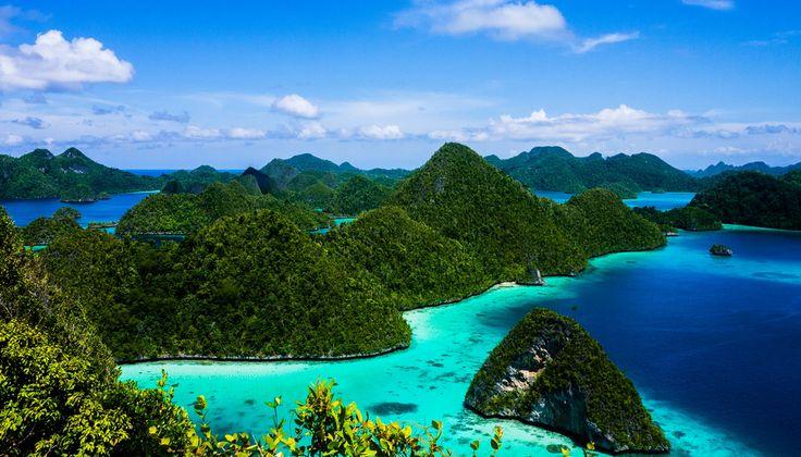 Blue Sky In Raja Ampat Indonesia
