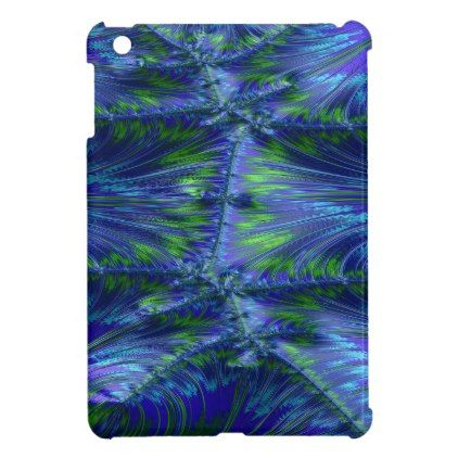 Sugarless Symbiosis Fractal Case For The iPad Mini - blue gifts style giftidea diy cyo