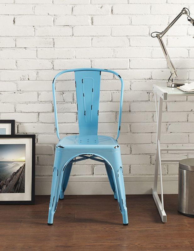 Walker Edison CH33MCBU Metal Caf  Chair   Azure BlueBest 25  Metal cafe chairs ideas on Pinterest   Metal dining  . Metal Cafe Chairs Sale. Home Design Ideas