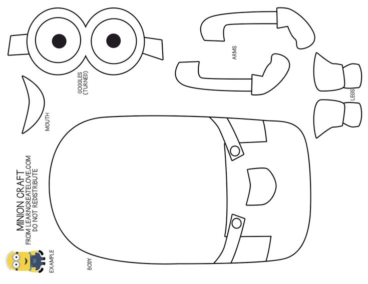 minion cut out template - Google Search                                                                                                                                                                                 More