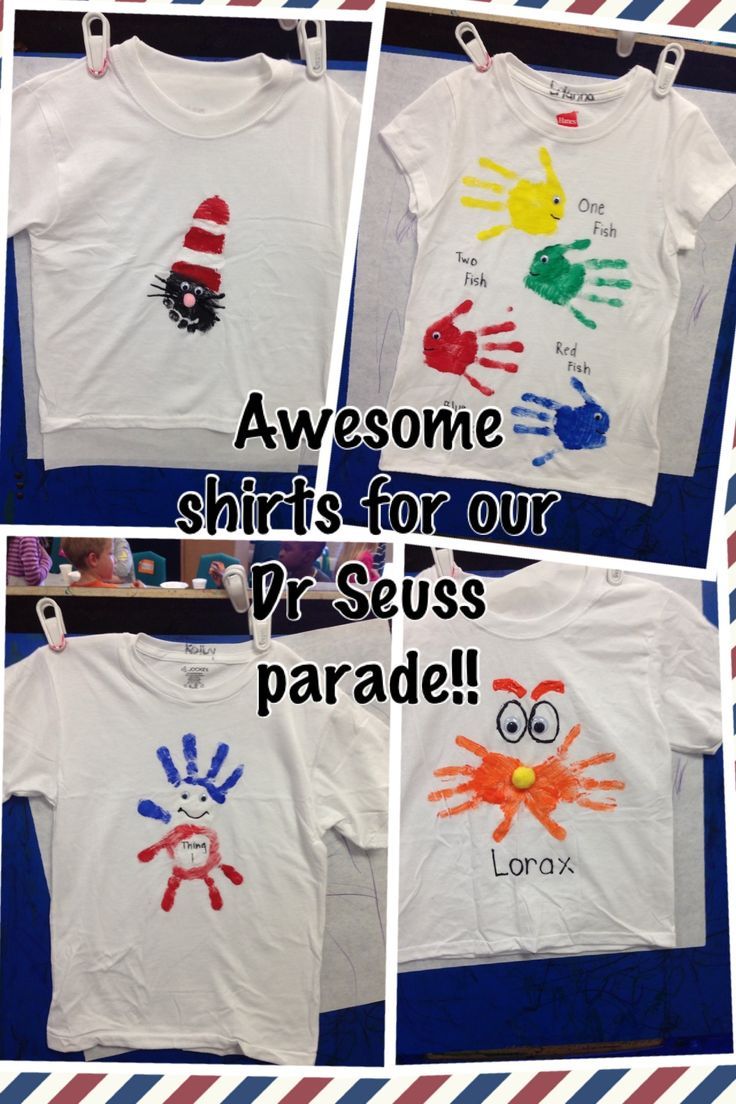 Dr Seuss shirts!
