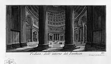 Giovanni Battista Piranesi, Veduta dell'interno del Pantheon, 1756.