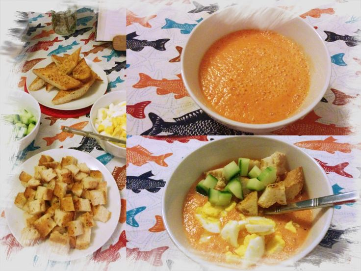 Gazpacho is a soup made of raw blended vegetables and served cold, originally from thesouthern Spanish region of Andalusia. In Portugal we have our own version, called Gaspacho Alentejano (Alentej…