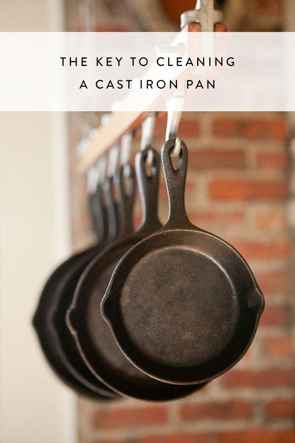 how to clean a cast iron skillet with ridges