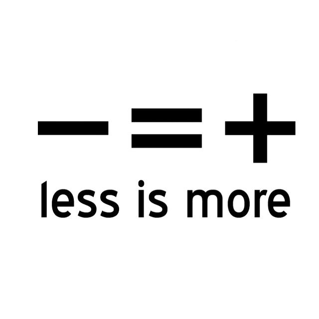 Is more less