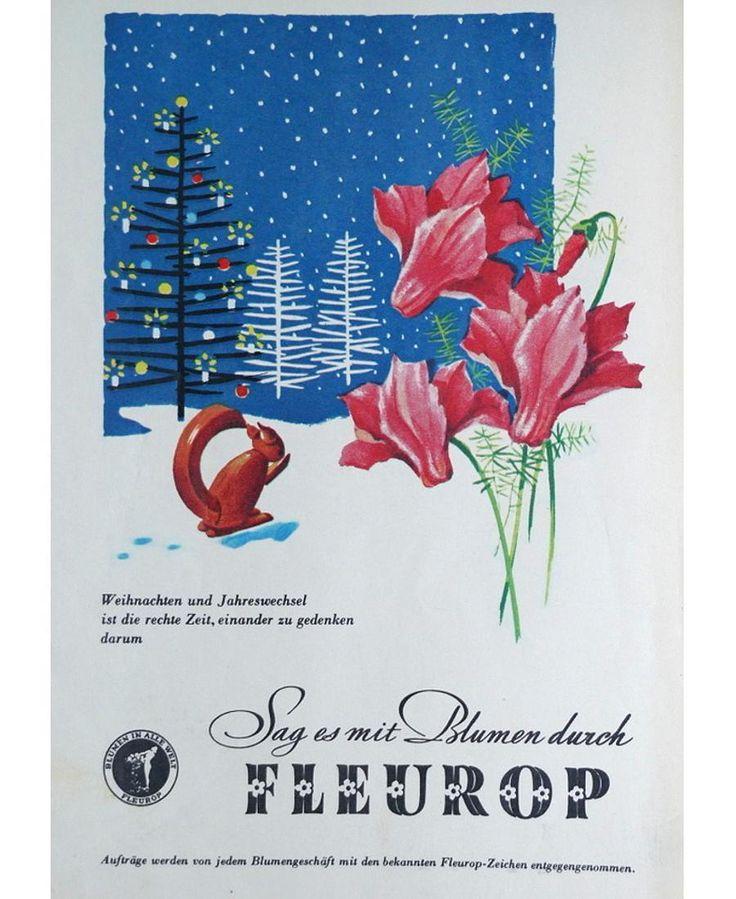 Auch in der DDR gab es schon Fleurop. Denn sie war Mitglied im 1908 in Berlin gegründeten Blumenvermittlungsservice. Auch im Sozialismus hieß: Freude schenken - Blumen schenken. Ein jeder Feiertag gibt hierzu Gelegenheit. Darum sag es mit Blumen durch Fleurop. .  #Fleurop #Blumen #Flowers #Geschenk #Winter #Schnee #Weihnachten #Silvester #Jahreswechsel #newyearseve #christmas #Blumenstrauß #DDR #Werbung #Reklame #Ostalgie #EastGermany #Vintage #Commercial #Advertising