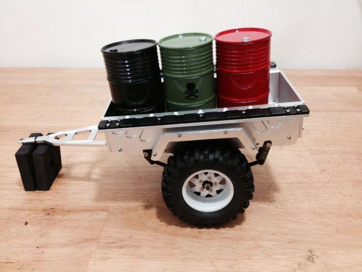 AsiaTees 1/10 Aluminum Trailer and 44 Gallon Oil Drum Unboxing
