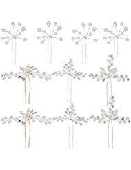 80er Hochzeit Haarnadeln Perlen Blumen Braut Haarschmuck Strass für Brautfrisu …