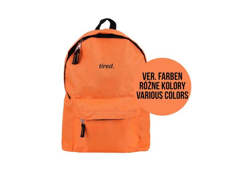 Rucksäcke - Schulrucksack, Rucksack Unisex TIRED Aufschrift - ein Designerstück von MoodyMood bei DaWanda