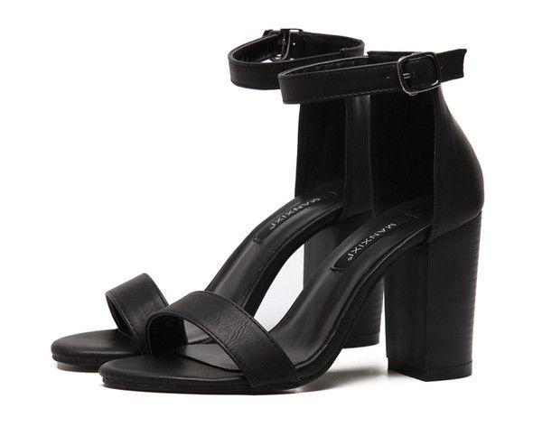 Peep Toed Gladiator Shoes Black Sandals