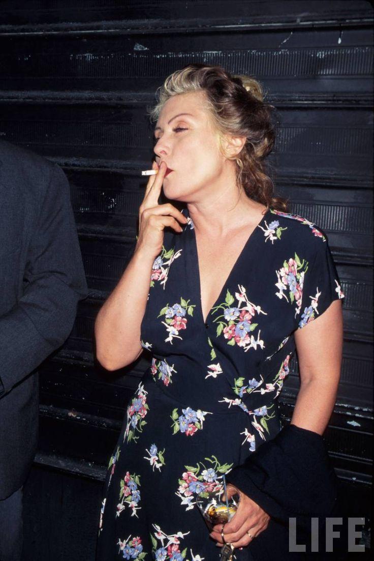 Debbie Harry smoking cigarette NY June 4, 1996 | LIFE ...