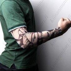 Vaalea naisteemainen hiha tatuointi