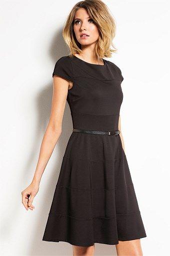 Capture Fit and Flare Ponti Dress - Big W