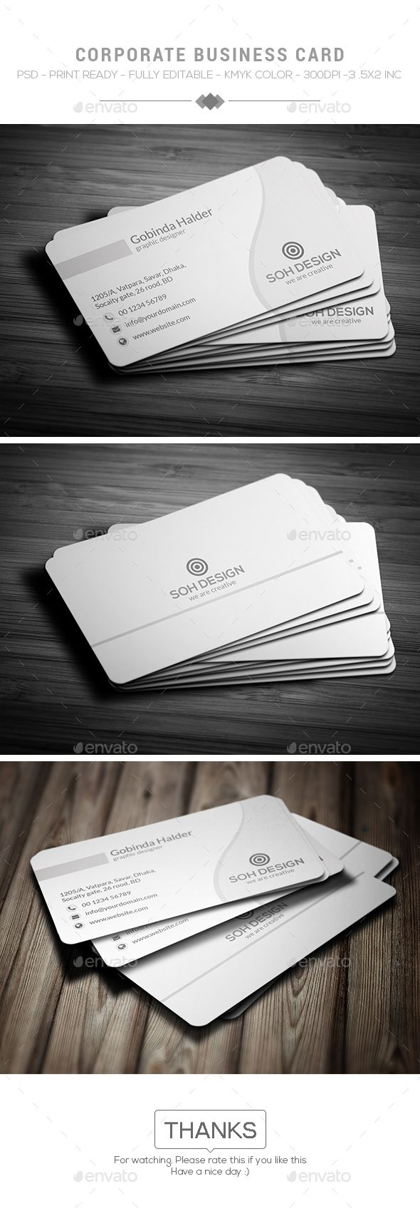 194 Best Business Cards Templates Images On Pinterest Corporate