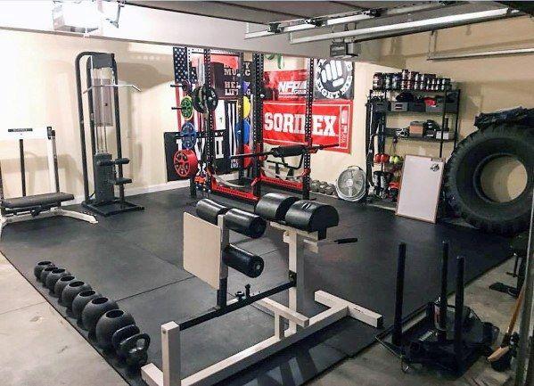 Top 75 Best Garage Gym Ideas Home Fitness Center Designs Home Gym Garage Home Gym Design Garage Gym