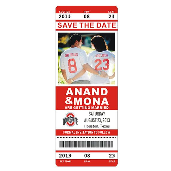 This will be our save the date, I'm in love! Ohio State Custom NFL NBA NCAA or College Football & by idomagnets, $1.00