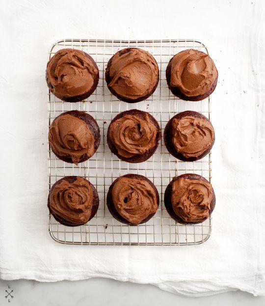 Vegan Chocolate Cupcakes & Avocado Frosting  / loveandlemons.com