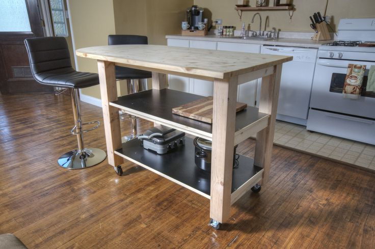 Diy Kitchen Island On Wheels  Downloadable Free Plans