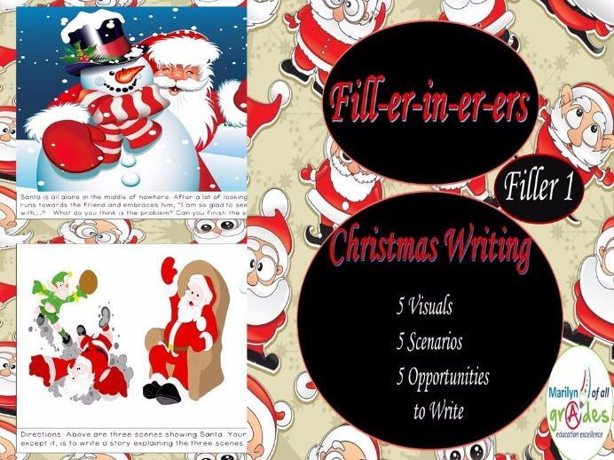 Christmas Writing Fill-er-in-er-er - Set 1