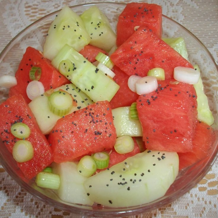 Watermelon and Seedless Cucumber Salad