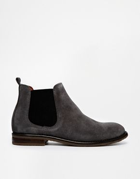 Jack Wills - Bottines chelsea en daim - Anthracite